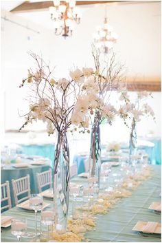 We Love These Sweet Wedding Centerpieces. DIY wedding planner with ideas and tips including DIY wedding decor and flowers. Everything a DIY bride needs to have a fabulous wedding on a budget! Mod Wedding, Trendy Wedding, Wedding Table, Perfect Wedding, Wedding Reception, Dream Wedding, Wedding Day, Wedding Beach, Wedding Country