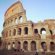 Once the largest amphitheatre of Ancient Rome where gladiators, criminals/lions fought for their lives, the Colosseum remains a world renowned, iconic symbol of the Roman Empire. Places Around The World, Oh The Places You'll Go, Travel Around The World, Cool Places To Visit, Around The Worlds, Need A Vacation, Vacation Places, Rome Travel, Italy Travel