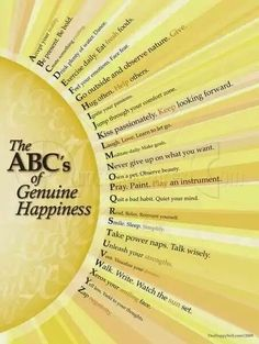 The ABCs of Genuine Happiness