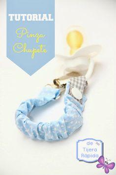 Tutorial sencillo: pinza para sujetar el chupete, ideal para novatas de la costura.