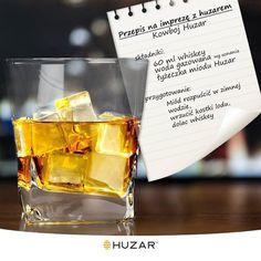 Klasyczna whiskey on the rocks, z małym, słodkim przekrętem ;) #przepis #drink #Huzar #whiskey
