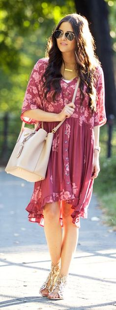 Central Park Fall burgundy Dress women fashion outfit clothing style apparel @roressclothes closet ideas