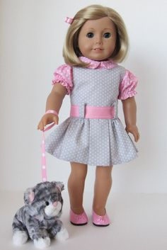 American Girl Doll: Kit's New Kitty by SewSpecialByBarb on Etsy