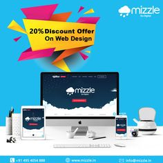 "New Year is here, it is time to take your business to a whole new level by setting up a compelling and praiseworthy Website designed by Mizzle. No need to worry about the cost either. Mizzle is providing a whopping 20% discount as part of ""New Year - Go Digital"" offer. Do not let this greatest opportunity missed.   For any inquiries, call us at +91 495 4054888 or +91 9645 888 181 Advertising And Promotion, Brand Promotion, Social Media Marketing, Digital Marketing, Us Web, Business Contact, Corporate Identity, Design Development, Web Design"
