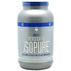 Isopure Zero Carb Protein Powder: 50 grams of 100% whey protein isolate. 1g of fat, no lactose, and with zero carbs. Every day I have one of their flavors