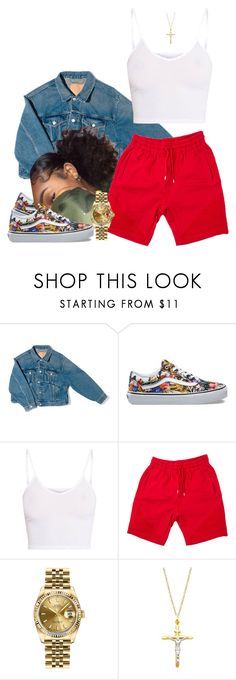 """Chilled Out"" by frenchmamii ❤ liked on Polyvore featuring Balenciaga, Vans, Rolex and Pori"