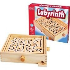 Wooden Labyrinth Puzzle Game. Brand New