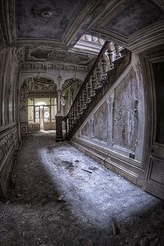 Abandoned mansion in Rossendale, Lancashire, England.