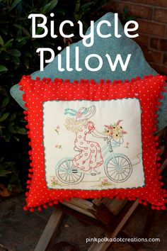 Bicycle Pillow | Pin