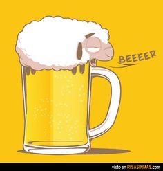 Una cerveza absurda.