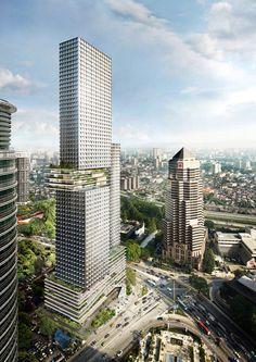 Angkasa Raya, Kuala Lumpur, Ole Scheeren, tower, high rise, hotel, luxury, metropolitan, greenery