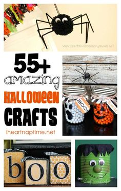 55+ AMAZING Halloween crafts.  Definitely gonna make some of these things :)