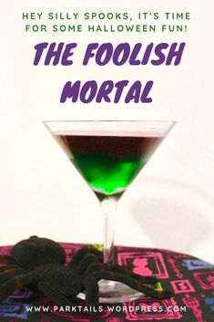 Introducing The Foolish Mortail by Parktails. This Haunted Mansion-inspired drink is fun to make and great for the whole family. All of your friends will like it, dead or alive. #disney #hauntedmansion #disneydrinks #familypartydrinks #parktails Disney Cocktails, Easy Cocktails, Cocktail Drinks, Cocktail Recipes, Cocktail Parties, Drink Recipes, Disney Inspired Food, Disney Food, Disney Recipes