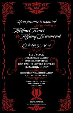 masquerade wedding invitation | wedding, masquerade wedding, Wedding invitations