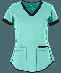 We like the Junior Fit and the bottom hem. The large pockets come in handy. STRETCH Junior Fit 3 Pocket Top by Barco NRG Scrubs Mais Cute Scrubs Uniform, Scrubs Outfit, Medical Uniforms, Work Uniforms, Scrub Suit Design, Medical Scrubs, Work Tops, Scrub Tops, Work Attire