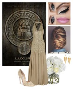 """""""The Hunger Games Style - District 1"""" by marinarodrigues-2 ❤ liked on Polyvore featuring Diane James, Halston Heritage, Panacea and Steve Madden"""