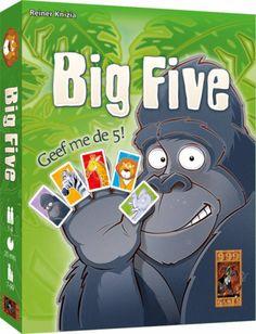 Kaartspel voor het hele gezin. Speel zo snel mogelijk je kaarten weg door je dieren aan te leggen.   http://www.planethappy.nl/999-games-big-five.html