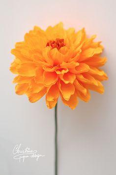 DIY paper flowers by Christine paper design.  paper dahlia.