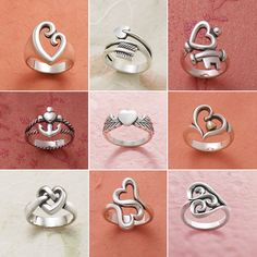 Valentines Collection 2015 - There's something about a heart ring that says forever and always. These are some of our customer favorites. #SilverHeartRing