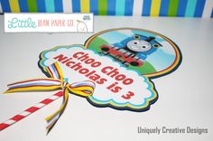 Thomas the Train  Centerpiece by littlebeanpaper on Etsy
