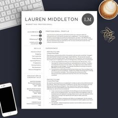 Resume Templates Pages Modern Resume Template For Word And Pages 1 2 & 3 Page Resumes