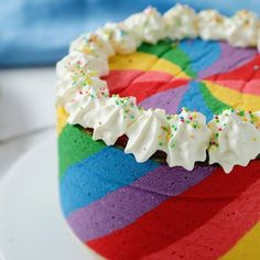 Rainbow Pinwheel Cake Rule You never need an excuse to bake a cake. What are rules 2 & The post Rainbow Pinwheel Cake & Rezepte appeared first on Food . Baking Recipes, Cake Recipes, Dessert Recipes, Baking Ideas, Appetizer Recipes, Pinwheel Cake, Rainbow Food, Cake Rainbow, Rainbow Snacks