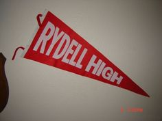 GREASE-MOVIE-PROP-RYDELL-HIGH-SCHOOL-PENNANT-FULL-SIZE-29-LONG