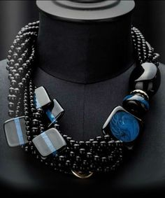 Angela Caputi Giuggiù: Jewels - the Dalì Collection Chunky Jewelry, Statement Jewelry, Boho Jewelry, Jewelry Art, Beaded Jewelry, Jewelery, Jewelry Accessories, Handmade Jewelry, Beaded Necklace