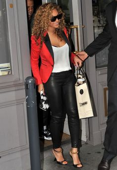 J Brand 5 Pocket Leather Legging in Noir - as seen on Beyonce Black Leather  Pants 548c79a14db4