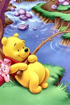 """Piglet sidled up to Pooh from behind."" he whispered. ""Yes, Piglet?"" ""Nothing,"" said Piglet, taking Pooh's hand. ""I just wanted to be sure of you. Disney Winnie The Pooh, Winne The Pooh, Winnie The Pooh Quotes, Lilo Et Stitch, Cute Wallpapers Quotes, Mickey Mouse, Eeyore, Disney Pictures, Disney Art"