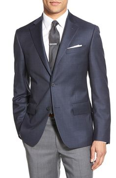 Nordstrom Men's Shop Classic Fit Plaid Wool Sport Coat available at #Nordstrom