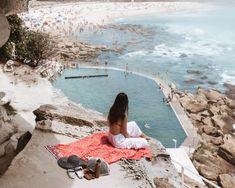 Bronte Baths Sydney - Perfect Swimming Pool By The Ocean Palm Beach Sydney, Sydney Beaches, Australia Tourism, Sydney Australia, Western Australia, Australia Funny, Harbour Bridge, The Grounds Of Alexandria, Alexandria Sydney