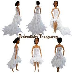 Barbie's High Low Wedding Dresses
