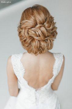 elegant wavy wedding updo / http://www.deerpearlflowers.com/wedding-bridal-hairstyles-for-long-hair/