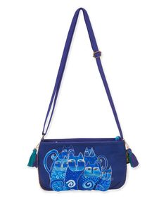 Love this Blue Indigo Cats Crossbody Bag on #zulily! #zulilyfinds