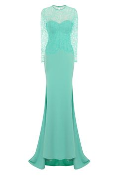 b41bb2aa24f2 NAZZ COLLECTION VANITY SPARKLE MINT SLINKY FISHTAIL MAXI DRESS - Nazz  Collection