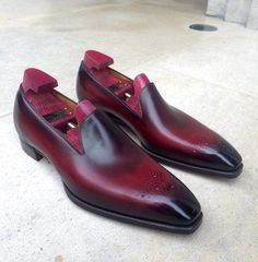 Gaziano Girling Bates Deco in Vlad Red Patina exclusively @ 39 Savile Row Me Too Shoes, Men's Shoes, Dress Shoes, Dress Loafers, Loafers Men, Shoe Zone, Mens Fashion Blog, Men's Fashion, Fashion Trends