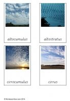 Free montessori 3 part cards for teaching about cloud types