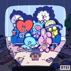 [Picture] Horror movie night together 🎬 ? Bts Chibi, Foto Bts, Scary Movies, Horror Movies, Netflix Horror, Bts Anime, Bts Drawings, Line Friends, Billboard Music Awards