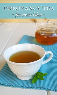 Enjoy this delicious herbal pregnancy tea for a healthier pregnancy and easier labor from A Girl Worth Saving
