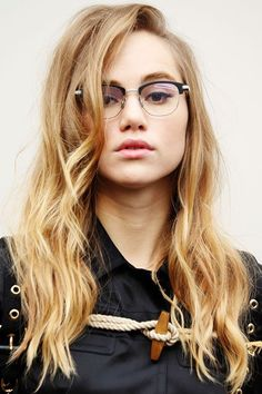 This Classic Look Will Never Get Old #refinery29 http://www.refinery29.com/2016/03/106186/celebrity-cat-eye-makeup#slide-8 Suki Waterhouse It works with glasses, too! ...