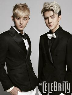 Tao, Sehun - The Celebrity Magazine March Issue '14