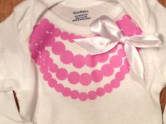 Free Printable Iron-on transfers for baby girl onesies! No sewing needed