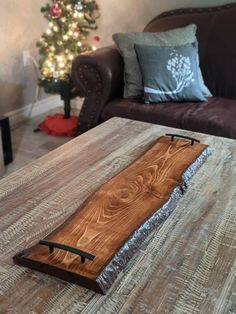 Serving Trays With Handles, Serving Tray Wood, Charcuterie And Cheese Board, Cheese Boards, Cedar Stain, Live Edge Wood, Wood Cutting Boards, Wood Slab, Woodworking Projects Diy