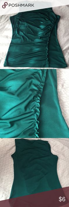 The limited green blouse Never worn and in excellent condition.  Great for work attire. Can also be worn with black or white pants.  In size small for women's.  92% polyester, 8% spandex Bundle and save! Xoxo The Limited Tops Blouses