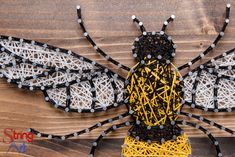 Talk about new, creative, and unique designs. Well this is the first ever Queen Bee String Art design created! And you have the opportunity to string it together. So if you're a Queen Bee then don't m