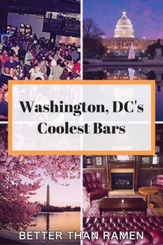 Find out which bars we chose as Washington, DC's coolest. Get the whole list at… Washington Dc Restaurants, Washington Dc Vacation, Georgetown Washington Dc, Stuff To Do, Cool Stuff, Rooftop Bar, Cool Bars, Oh The Places You'll Go, Travel Usa