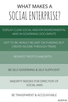 What makes a Social Enterprise? #socialenterprise