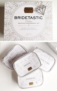 Bridetastic deluxe wedding emergency kit from Pinch Provisions. Great gift for the holidays for the bride to be. #gift #bride http://pinchprovisions.com/