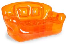 Fun and colorful, surprisingly comfortable Bubble Inflatables Tangerine Orange Inflatable Couch, perfect for college dorms, sleep-overs, play rooms and more. Couches are super-sturdy, made from thick 0.40mm 6P FREE PVC, and can hold up to 500-pound, so they're not just for kids (although kids sure do love 'em). Each measures a full 72 by 30 by 38-inch, and can hold 2 adults or 3-4 children...